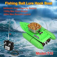 T10 Remote Control RC Bait Fishing Boat Electric Fish Finder Lure Carrier Green