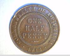 1938  Austrailia One Half Penny, High Grade Bronze (Aus-2)