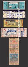 5 1933-1942  BASEBALL ALL-STAR GAME VINTAGE UNUSED FULL TICKETS 33 36 39 40 42