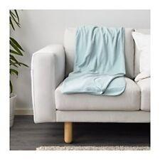 IKEA SKOGSKLOCKA Fleece Sofa Knee Bed Couch Throw Rug Blanket 130x170 Light Blue