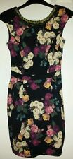 Black floral Dress. Womens size 6. River Island