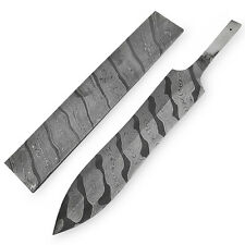 "White Deer Damascus Steel TIGER STRIPE Pattern Billet Forge Welded 10""x2"" 5.5mm"