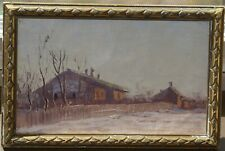 """NIKOLAY DUBOVSKOY ANTIQUE RUSSIAN OIL PAINTING """"COUNTRY HOUSE"""" SIGNED"""