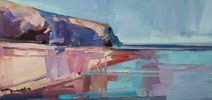 JOSE TRUJILLO Oil Painting IMPRESSIONISM SEASCAPE SHORE MODERN ARTIST SIGNED COA