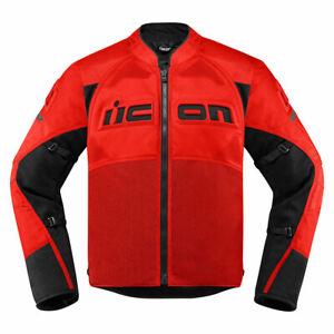 Blouson Moto ICON Contra 2 Transpirant Protections D30 Rouge