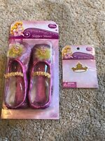 Disney Aurora Sleeping Beauty Glitter Slippers Costume Ballet Shoes Girls NIB