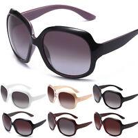 Polarisiert Sonnenbrille Damen Herren Vintage Übergroße Rahmen Brille UV 400
