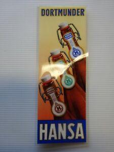 Dortmunder Hansa Bier altes Reklameschild