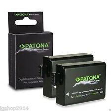 2 BATTERIE LP-E5 PREMIUM 1020 MAH CANON EOS 1000D BATTERIA DI PATONA