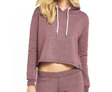 Superdry Orange Label Luxe Edition Cropped Hoody Womens Canyon Berry Size L