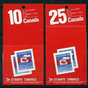 Canada Booklet BK112 & 115 Flag MNH Close