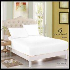 Draps-housses blanches pour le lit Chambre en 100% coton