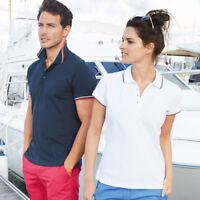 Kariban KB250 Mens Contrast Short Sleeves Polo Sports Wear T-shirt Tee Shirt Top