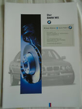 BMW M5 brochure 1995 Ed 1 German text