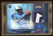 2012 TRIPLE THREADS KENDALL WRIGHT 1/1 RC AUTO TITANS PATCH LOGO TRUE 1 OF 1 HOT