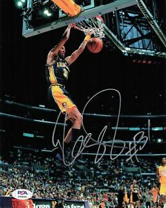 Reggie Miller signed 8x10 photo PSA/DNA Indiana Pacers Autographed