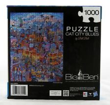 Cat City Blues 1000 Piece Jigsaw Puzzle Bill Bell NEW kitty nightlife party art