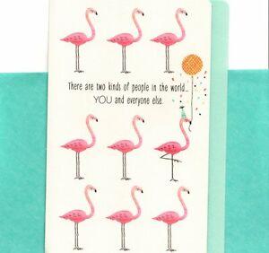 Happy Birthday Pink Unique Flamingo Flamingos Hallmark Greeting Card