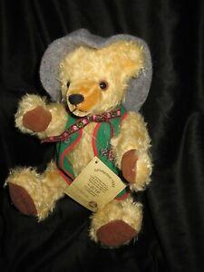 HERMANN-SPIELWAREN MOHAIR BEAR GMBH #1069 OKTOBERFEST LIMITED EDITION RARE 1995