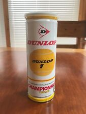 Vintage Dunlop Championship Yellow 3 Tennis Balls Can - Still Sealed