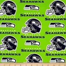"NFL SEATTLE SEAHAWKS FOOTBALL CURTAIN SET  110"" WIDE X 63""LONG   2 PANELS"