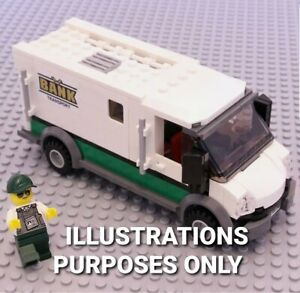 Lego Genuine X1City Armour BankCash Truck Security Van from Cargo Train 60198NEW