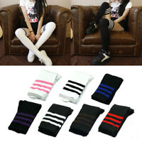 Fashion Girls Women Stripe Cotton Over Knee Socks Thigh High Stockings Long Sock