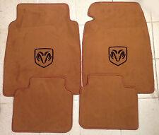 Autoteppich Fußmatten für Dodge Avenger ab 07' Cognac-schwarz  4tlg Velours Neu