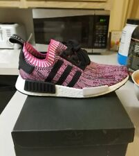 New sz 9 Women's Adidas NMD R1 Primeknit Running Training Casual Shoes Pink