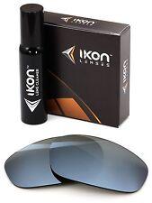 Polarized IKON Iridium Replacement Lenses For Oakley Split Jacket Silver Mirror