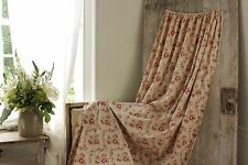 Faded floral bed  Curtain French fabric material c 1890 red French country chic