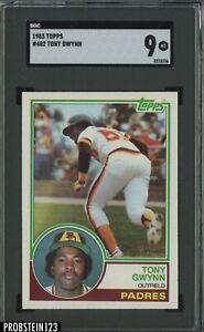 1983 Topps #482 Tony Gwynn San Diego Padres RC Rookie HOF SGC 9 MINT