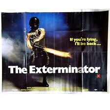 The Exterminator Original UK Cinema Quad Size Film Movie Poster