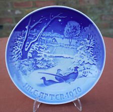 """Bing & Grondahl  """"Pheasants in the Snow at Christmas""""   1970 Plate"""