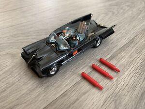 Corgi 267 Batmobile with Batman & Robin Figures Working Chain Cutter Good Paint