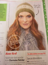 Pattern For Lady's  Hat In 2  Colours Of  Debbie Bliss Merino/ Cashmere Aran