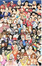 "WWF/WWE 11""x17"" 1/1 Limited Original Art Wrestling Artist Signed MattSerraArt"