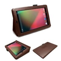Ultra Slim Smart magnetic Brown Leather Case Cover for Asus Google Nexus 7