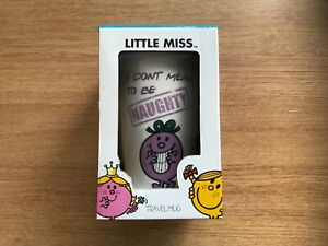 LITTLE MISS NAUGHTY - CERAMIC TRAVEL MUG WITH RUBBER LID - TUMBLER/CUP - COFFEE