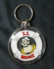 VINTAGE S. S. BRUTUS Key Chain From Popeye - Brutus Round Collectible Keychain
