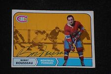 BOBBY ROUSSEAU 1968-69 TOPPS SIGNED AUTOGRAPHED CARD #65 MONTREAL CANADIENS