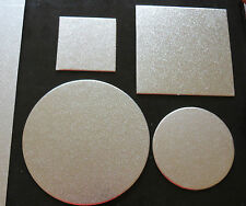 "Cardboard Cake Board  Round / Square Silver  Thickness 2mm size: 3""4""5""6""7"" inch"