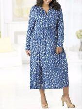 Animal Print Empire Waist Machine Washable Plus Size Dresses for Women