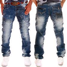 ZAHIDA Herren Jeans Chino Hose Kosmo Style Used Look Clubwear lUpo washed NEU