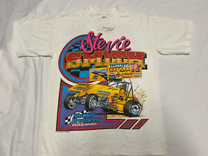 Vintage Rare Stevie Smith Signed T-Shirt Drag Racing Sprint Car Racing