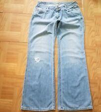 American Eagle Outfitters Women Boyfriend Bell Bottons Mid Rise Jeans Sz 10 Blue