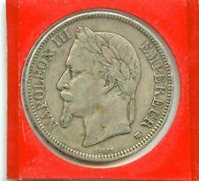 5 francs argent Napoléon III 1868 BB n°E1346