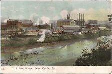 U.S. Steel Works in New Castle PA Postcard 1910