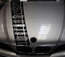 Motorhauben Sponsoren Aufkleber 8 Sponsoren 21cm Breit Tuner Logos - Performance