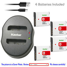 Kastar Battery Dual USB Charger for Sony NP-BG1 NP-FG1 & Sony Cyber-shot DSC-WX1